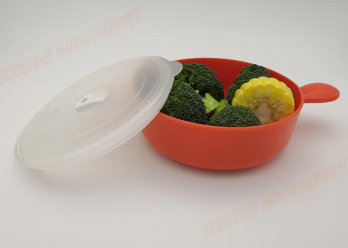 PP Lunch Box, Portable Microwave And Freezer Bowls Microwave Bowls Orange Kitchen Storage