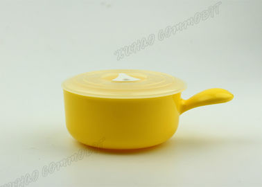 China Yellow Kitchen Storage Microwave Safe Cooking Bowls Adjustable Air Holes  supplier