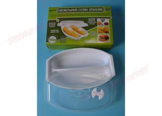 China Durable Microwave Cookware Dishes Plastic Corn Cob Trays FDA Certificated supplier