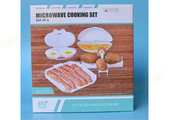 China White Microwave Cookware Dishes 4 Set Cooker Egg Tools Bacon Tray Potato Frame supplier