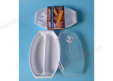 China Cookware Microwave Corn Steamer Food Tray PP Material Transparent Lid Cover supplier