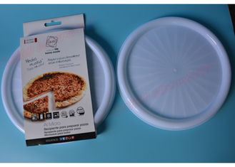 China Round Microwave Safe Tray Pizza Pan Cook Bacon Sausage Meat Dishwasher Safe supplier