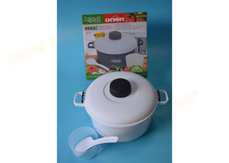 China White Color Plastic Kitchen Accessories Microwave Steaming Pot PP Material supplier