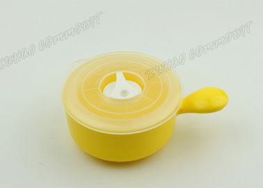 China Kitchen Storage Microwave Cooking Pots And Pans , Microwave Safe Pot Yellow Color supplier