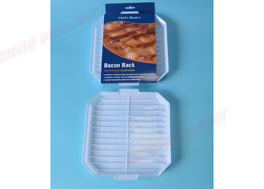 China Grill Rack Tray Microwave Bacon Tray PP Material White Color Long Service Life  supplier