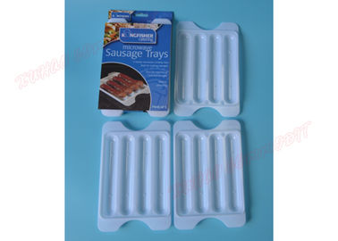 China Plastic Sausage Serving Microwave Bacon Tray Sausage Saver Cooker Easy Wash supplier