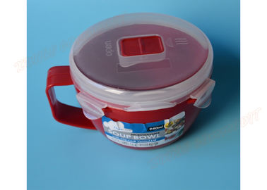 China Noodle Microwave Safe Cooking Bowls Lunch Box PP Material Red Color Eco - Friendly supplier