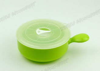 China Green Microwave Safe Storage Containers , Microwave Safe Bowl With Handle / Lids supplier