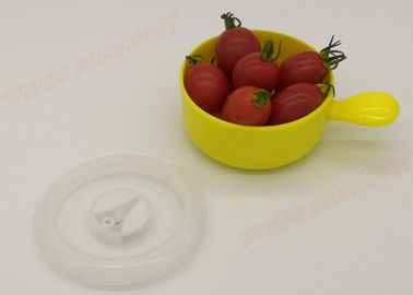 China Yellow Freezer Microwavable Plastic Bowls Food Container Eco - Friendly supplier