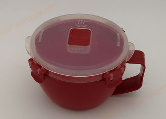 China Noodle Bowl Freezer Food Storage Containers Lunch Box Red Transparent Color supplier