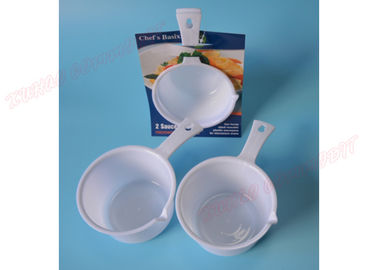 China White Microwave Safe Cooking Bowls Plastic Soup Mug Saucepan Microwave Pan Pot supplier