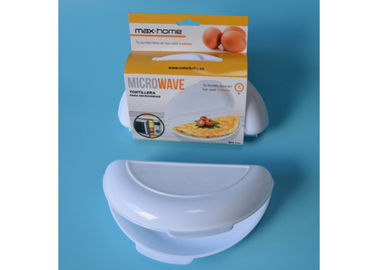 PP Plastic Microwave Safe Tray Non Stick Microwave Egg Cooker Easy Removal