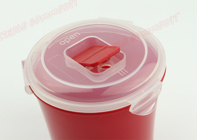 Milk Cup Freezer Food Storage Containers Red Plastic Microwave Soup Cups